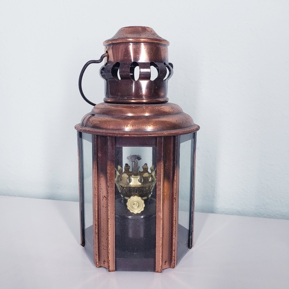 Vintage nautical maritime copper lantern